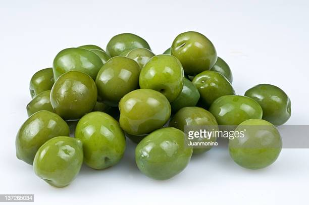 Bunch of green olives