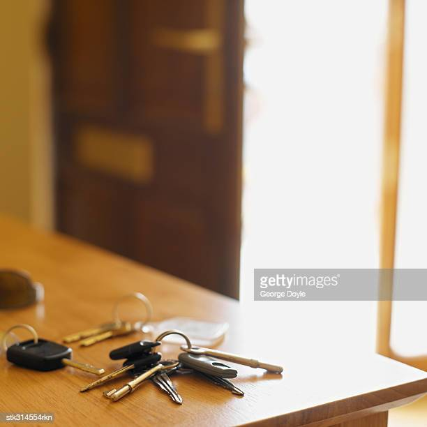 bunch of keys on a table
