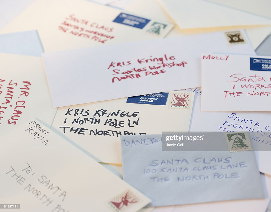 Bunch Of Letters To Santa Claus Stock Photo  Getty Images