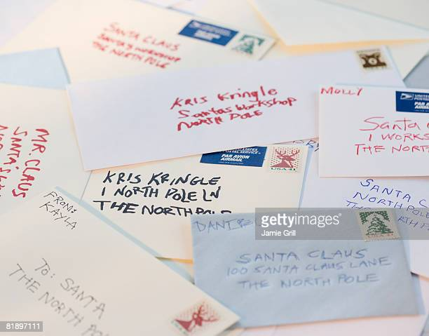 Bunch of letters to Santa Claus
