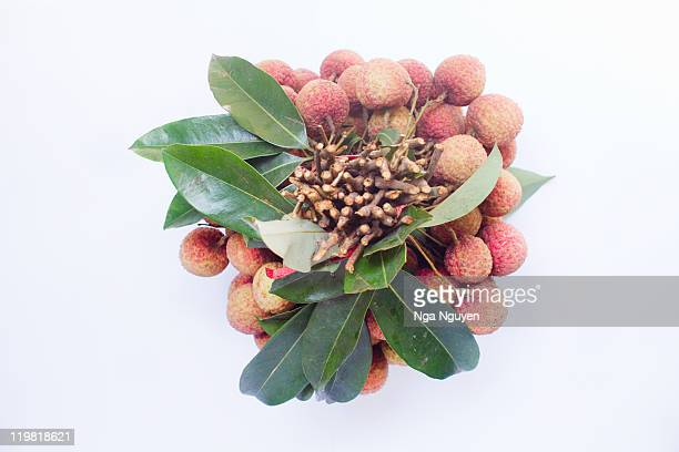 Bunch of lychee fruit