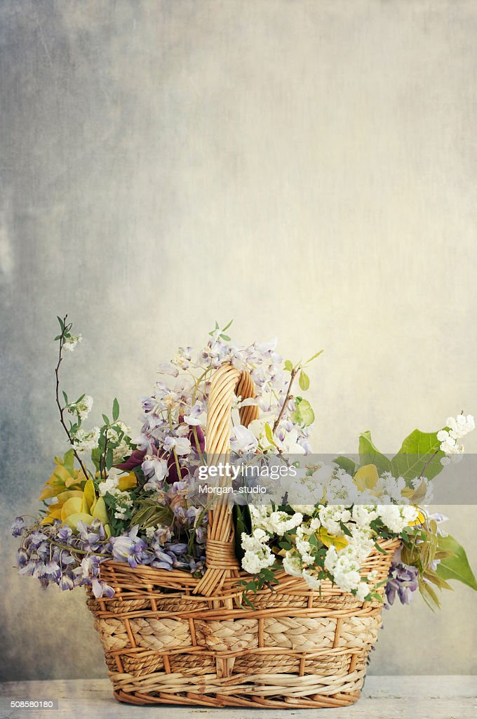 Bunch of mix spring flowers : Stock Photo