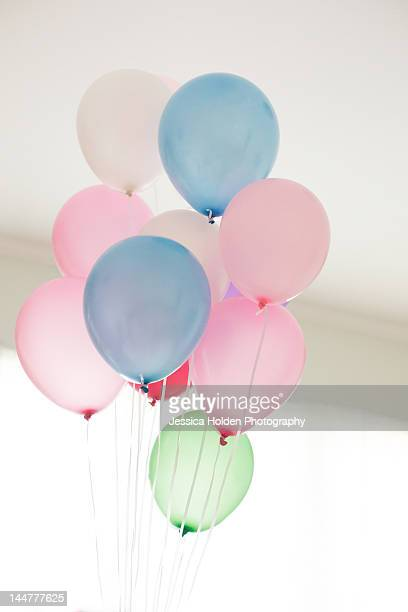 Bunch of pastel balloons
