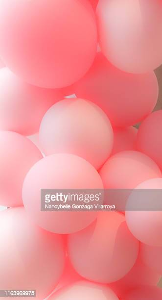 a bunch of pink balloons - happy birthday canada stock pictures, royalty-free photos & images