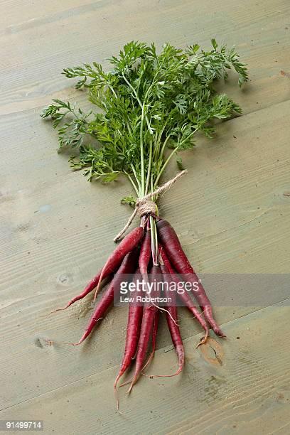 Bunch of purple carrots