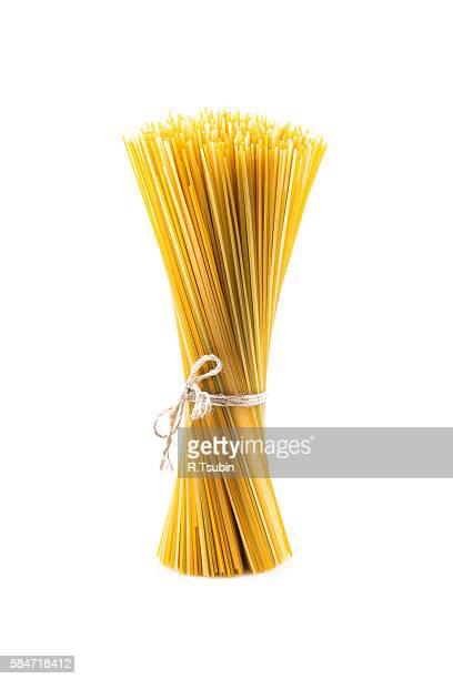 Bunch of raw italian pasta