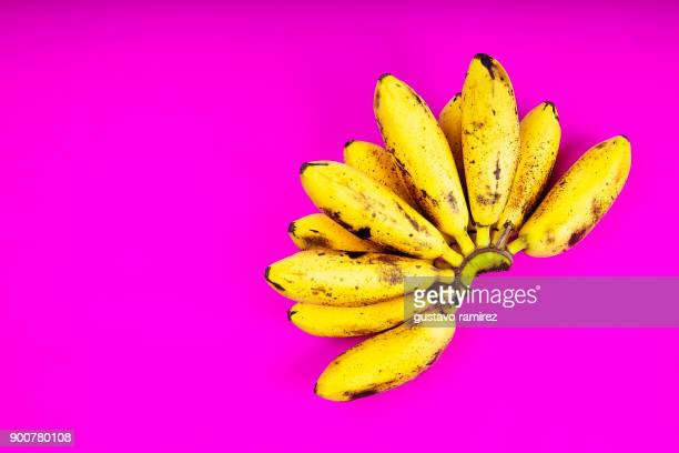 bunch of ripe organic bananas