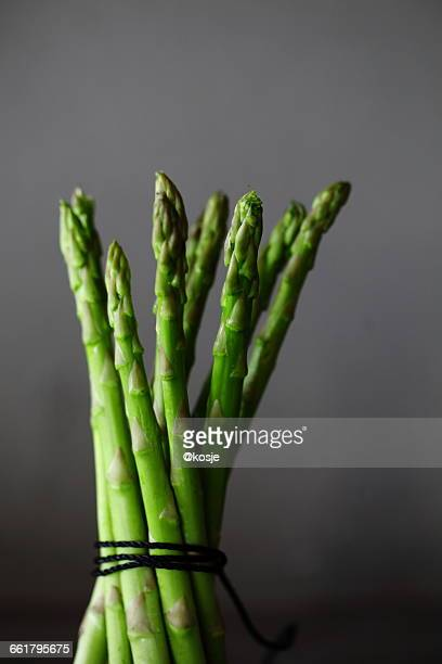 Bunch of tied asparagus spears