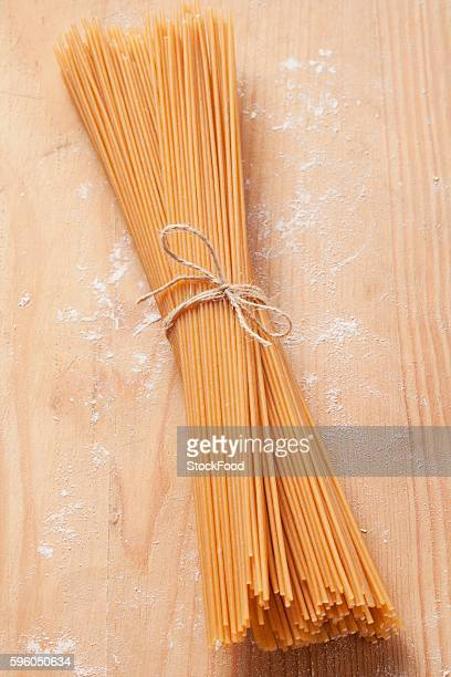 A bunch of wholemeal spaghetti