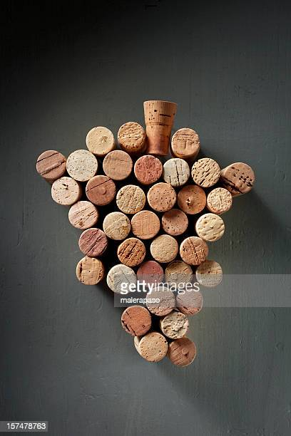 bunch of wine corks - cork stopper stock pictures, royalty-free photos & images