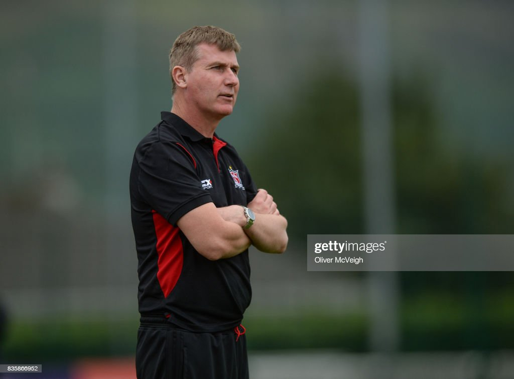 Buncrana , Ireland - 20 August 2017; Dundalk Manager Stephen Kenny during the SSE Airtricity League Premier Division match between Derry City and Dundalk at Maginn Park in Buncrana, Co Donegal.