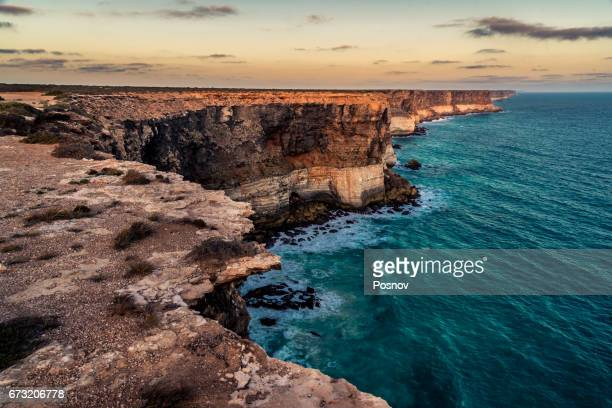 bunda cliffs - south australia stock photos and pictures