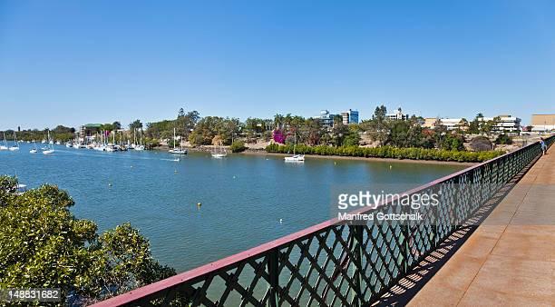 Bundaberg from the Burnett River Bridge.
