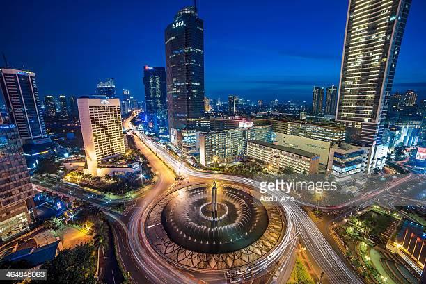 Bundaran Hotel Indonesia (HI) Blue Hour