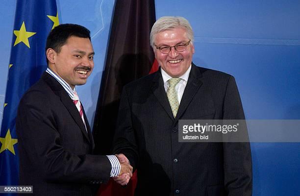 Bundesaußenminister FrankWalter Steinmeier und Haji AlMuhtadee Billah anläßlich seines Besuches in Berlin