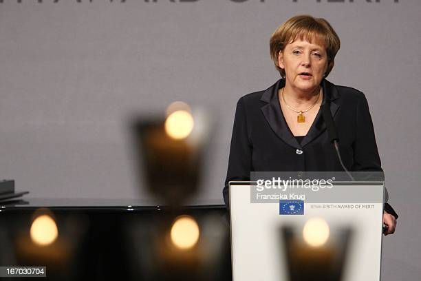 Bundeskanzlerin Angela Merkel Bei Der Verleihung Des B'Nai B'Rith Europe Award Of Merit Im Mariott Hotel In Berlin Am 110308