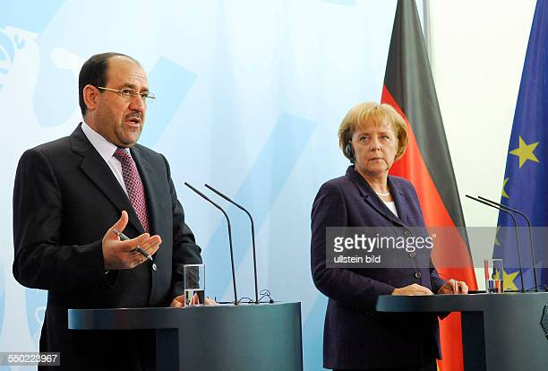 Bundeskanzlerin Angela Merkel während einer gemeinsamen Pressekonferenz mit dem irakischen Ministerpräsidenten Nouri AlMaliki in Berlin