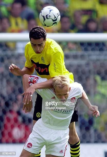 1 Bundesliga 02/03 Dortmund Borussia Dortmund 1 FC Nuernberg Ahmed MADOUNI/Dortmund David JAROLIM/Nuernberg