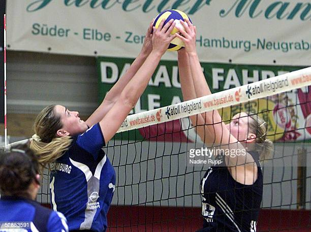1 Bundesliga 02/03 Meisterschaftsrunde Hamburg TVF Phoenix Hamburg USC Muenster 23 Christina BENECKE/Phoenix Andrea BERG/Muenster