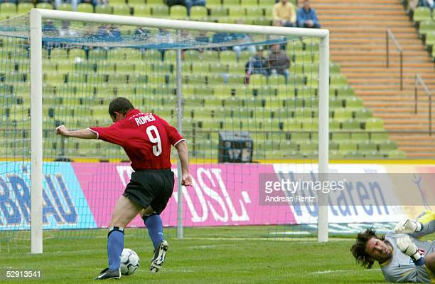 1 Bundesliga 02/03 Muenchen 1860 Muenchen Hamburger SV 11 Vergebene Torchance fuer Bernardo ROMEO/HSV gegen Torwart Simon JENTZSCH/1860