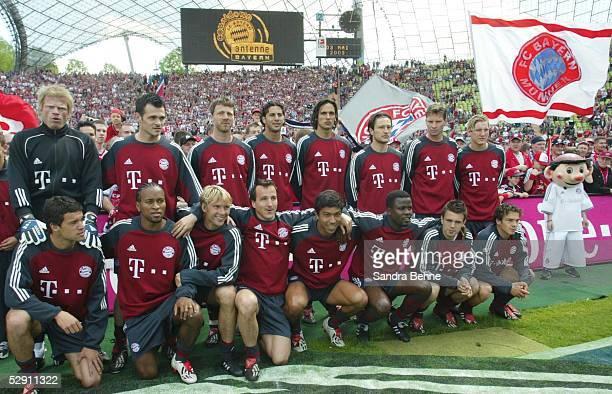 1 Bundesliga 02/03 Muenchen FC Bayern Muenchen 1 FC Kaiserslautern Deutscher Meister 2003 Mannschaftsfoto