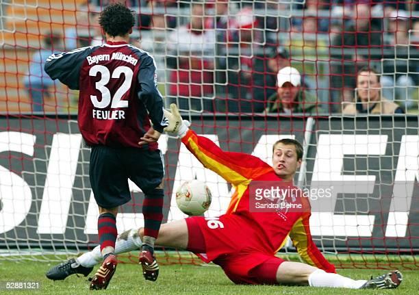 1 Bundesliga 02/03 Muenchen FC Bayern Muenchen SV Werder Bremen 01 Markus FEULNER/Bayern Torwart Pascal BOREL/Bremen