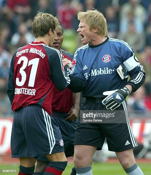 1 Bundesliga 02/03 Muenchen FC Bayern Muenchen SV Werder Bremen Bastian SCHWEINSTEIGER ZE ROBERTO Torwart Oliver KAHN/Bayern