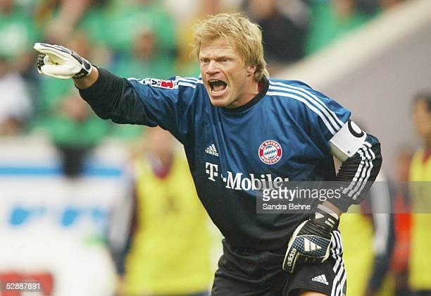 1 Bundesliga 02/03 Wolfsburg VfL Wolfsburg FC Bayern Muenchen 02'FC Bayern Muenchen Deutscher Meister 2003 ' Torwart Oliver KAHN/Bayern