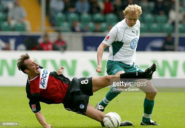 1 Bundesliga 02/03 Wolfsburg VfL Wolfsburg Hertha BSC Berlin Bart GOOR/Hertha Miroslav KARHAN/Wolfsburg