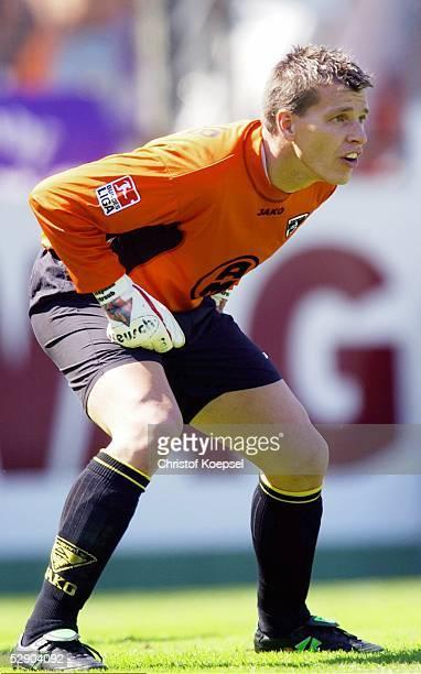 2 Bundesliga 03/04 Aachen TSV Alemannia Aachen FC Erzgebirge Aue Torwart Stephan STRAUB/Aachen