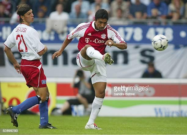 Bundesliga 03/04, Hamburg; Hamburger SV - FC Bayern Muenchen; Tor zum 0:2 durch Giovane ELBER/Bayern, Tomas UJFALUSI/HSV