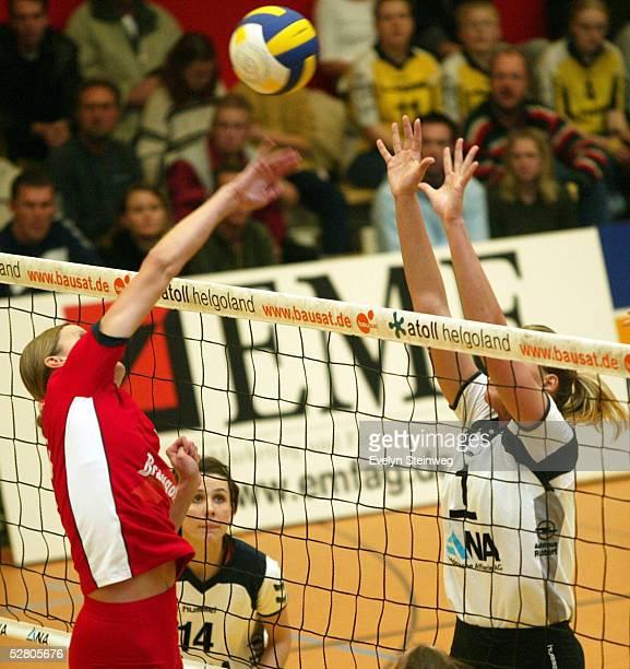 1 Bundesliga 03/04 Hamburg TVF Phoenix Hamburg Tus Braungold Erfurt Zuzanna BANYAKOVA/Erfurt Christina BENECKE/Fischbek