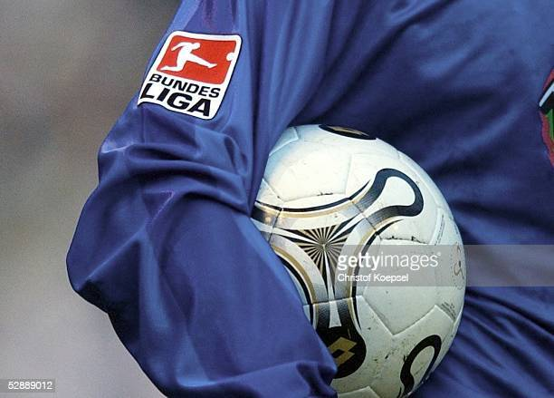 Bundesliga 03/04, Moenchengladbach; Borussia Moenchengladbach - FC Hansa Rostock 1:1; Spezial DFL-Logo und Trikot und Ball