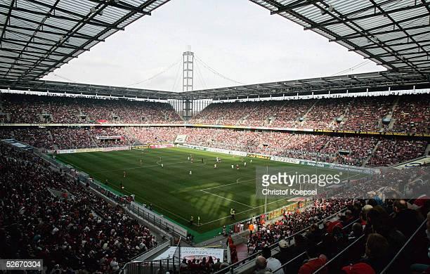 2 Bundesliga 04/05 Koeln 200305 1 FC Koeln Rot Weiss Essen RheinEnergie Stadion/Uebersicht
