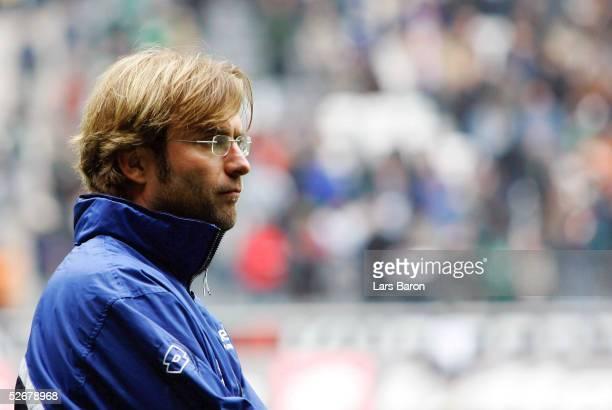 1 Bundesliga 04/05 Moenchengladbach 160405 Borussia Moenchengladbach FSV Mainz 05 11 Trainer Juergen KLOPP/Mainz