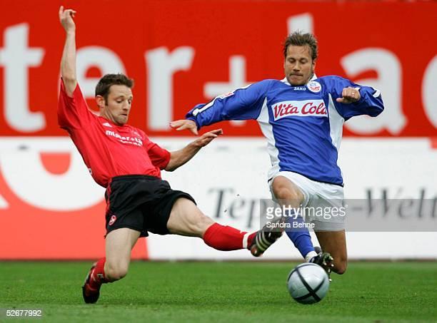 1 Bundesliga 04/05 Nuernberg 100405 1 FC Nuernberg FC Hansa Rostock vl Lars MUELLER/FCN Marcus LANTZ/HansaFotoBONGARTS/Sandra Behne