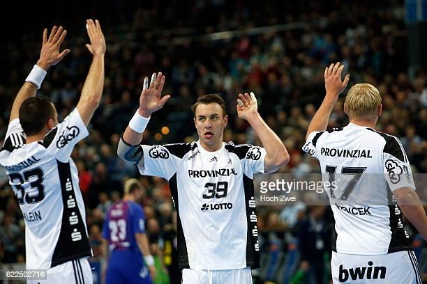 Bundesliga 2013/14, THW Kiel - HSV Handball: Dominik Klein , Filip Jicha , Patrick Wiencek // © xim.gs, www.xim.gs, picturedesk@xim.gs //...