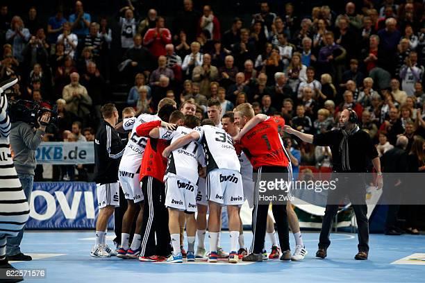 Bundesliga 2013/14, THW Kiel - HSV Handball: Schlussjubel beim THW Kiel // © xim.gs, www.xim.gs, picturedesk@xim.gs // Bankverbindung: Deutsche...