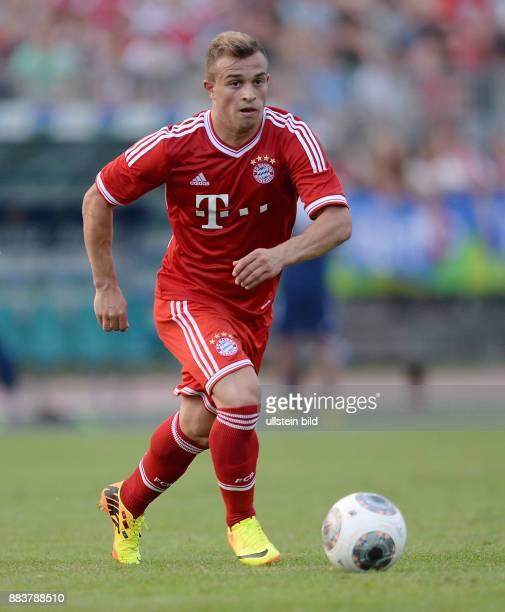 FUSSBALL 1 Bundesliga 2013/2014 Testspiel FC Bayern Muenchen Paulaner Traumelf Xherdan Shaqiri am Ball