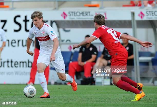 FUSSBALL 1 Bundesliga 2013/2014 Testspiel FC Heidenheim VfB Stuttgart Timo Werner gegen Christian Sauter
