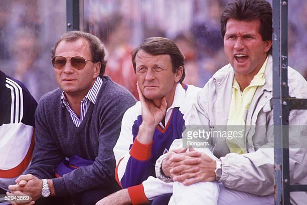 1 Bundesliga 87/88 Bayern Muenchen Muenchen Manager Uli HOENESS Co Trainer Trainer Jupp HEYNCKES