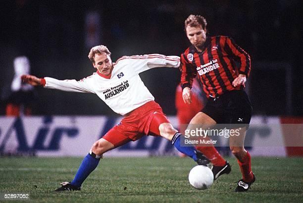 1 Bundesliga 92/93 Frankfurt Eintracht Frankfurt Hamburger SV 33 Uwe SPIESS/HSV Dietmar ROTH/Frankfurt