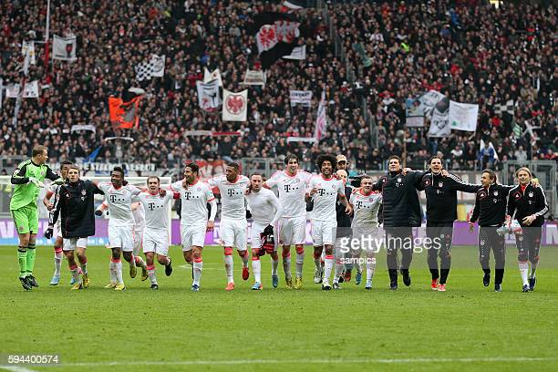 1 Bundesliga Fussball Eintracht Frankfurt FC Bayern München 01 FC Bayern feiert die deutsche Fussball Meisterschaft Saison 2012 / 2013