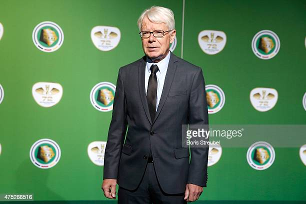 Bundesliga league president Reinhard Rauball poses for a photo at the green carpet prior to the DFB Cup Final between Borussia Dortmund and VfL...