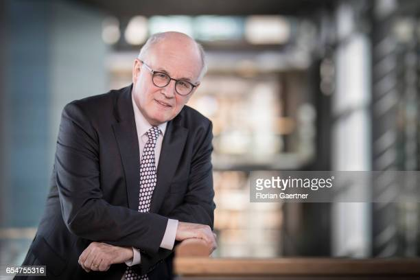 Bundestag faction head Volker Kauder poses for a photo on March 15 2017 in Berlin Germany