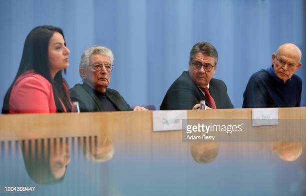 Bundestag Member Sevim Dağdelen , Former Interior Minister Gerhart Baum, former German Interior Minister Sigmar Gabriel and Investigative journalist...
