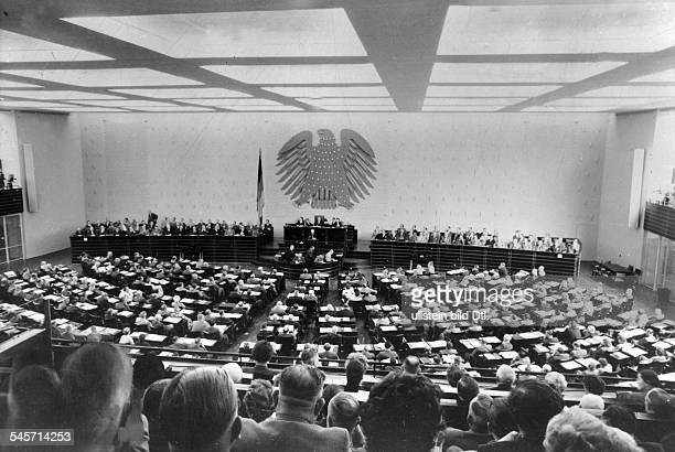 Bundestagssitzung in Bonn 1956