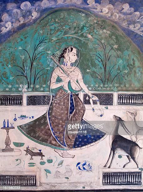 Bundi Palace pintura de Rajastán, India