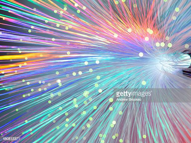 Bundle of fibre optics used to send data