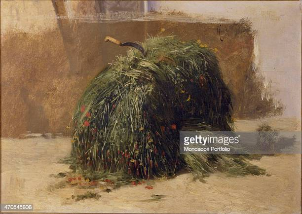 'Bundle of Grass Pasture with Sickle Naples by Filippo Palizzi 19th Century oil on canvas5 x 475 cm Italy Lazio Rome National Gallery of Modern and...